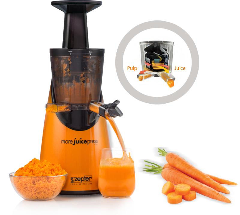 Slow Juicer Zepter : More Juice Press - Zepter Slow Juicer. Up To 40% More Juice!