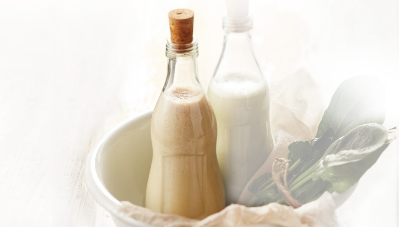 Banana Cabbage Soymilk Juice in a Bottle
