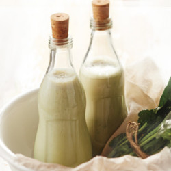 Banana Spinach Soymilk Juice