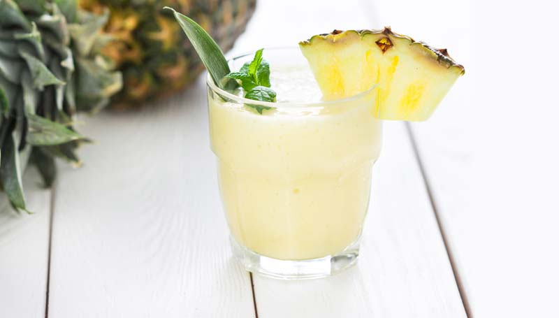 Freshly Squeezed Pineapple Juice in a Glass